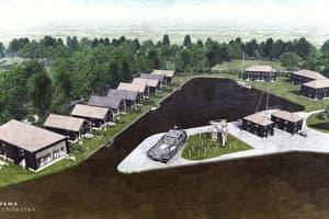 Ontwikkelingslocatie voor recreatiewoningen aan het Lauwersmeer